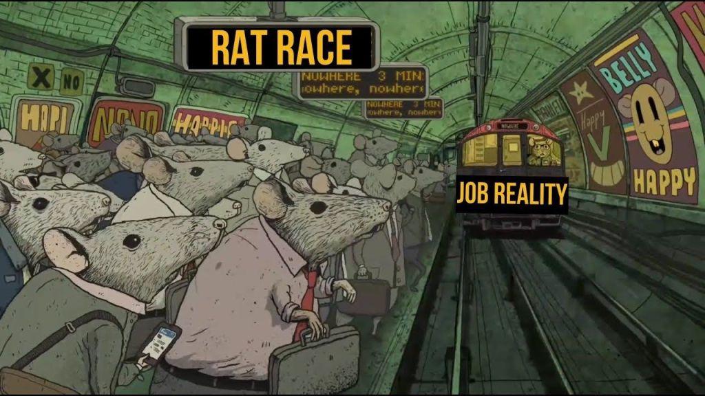 rat race metro boulot dodo - Invest Preneur Julien Malengo